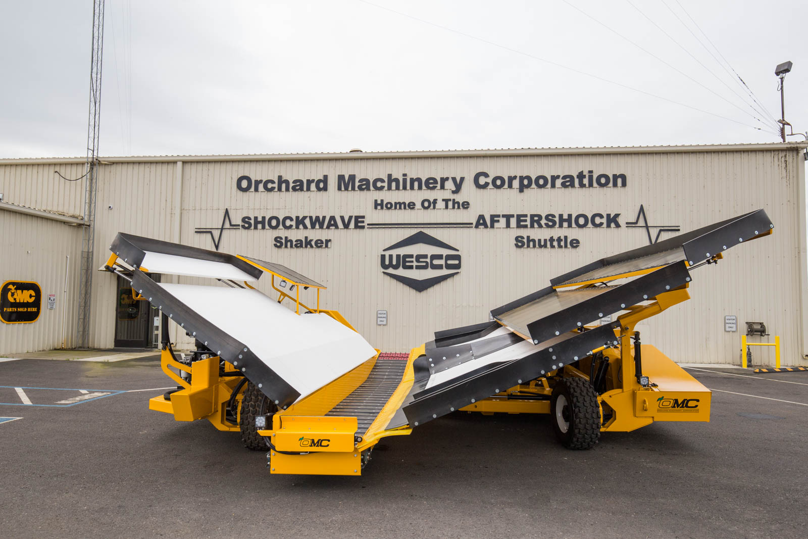 Shockwave Catch All Systems Orchard Machinery Corporation
